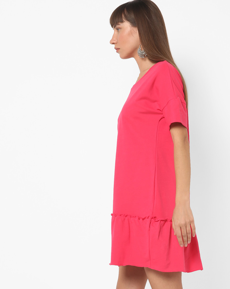 Panelled Dress With Drop Shoulders By BOSSINI ( Pink )