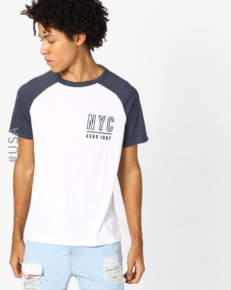 Printed T-shirt With Raglan Sleeves By Aeropostale ( White )