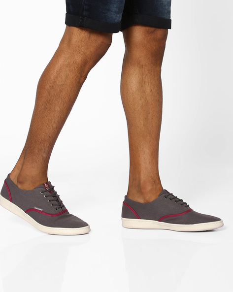 Lace-Up Shoes With Contrast Panels By Jack & Jones ( Darkgrey )