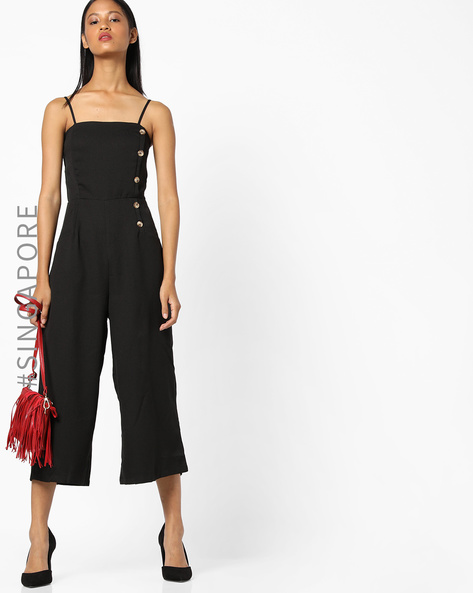 Strappy Jumpsuit With Insert Pockets By MDS ( Black )