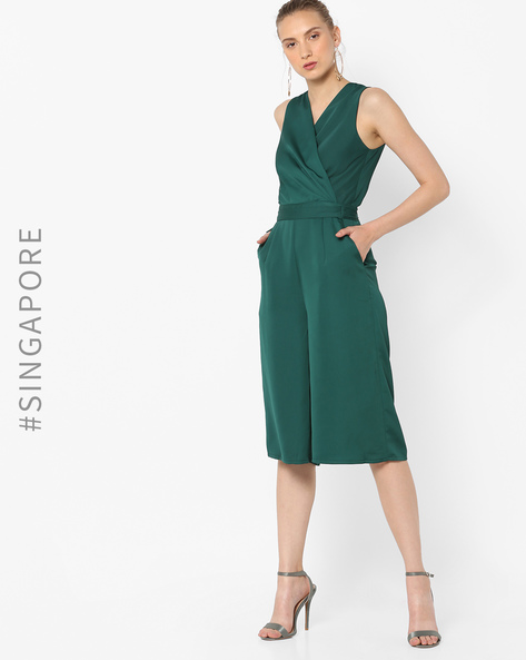 Jumpsuit With Surplice Neckline By MDS ( Green )