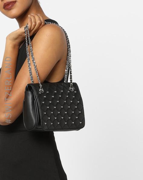 Textured Handbag With Embellishments By TALLY WEiJL ( Black )