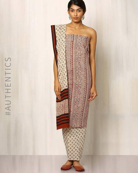 Bagru Print Cotton Dress Material By Indie Picks ( Multi ) - 460016887001