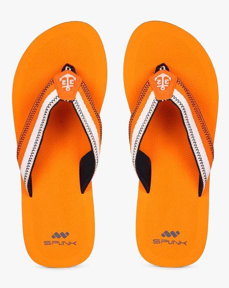 Flip-Flops With Applique By Spunk ( Orange )