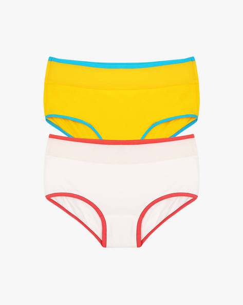 Pack Of 2 High-Waist Hipster Panties By Clovia ( Multi )