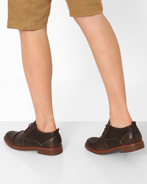 Lace-Up Formal Derby Shoes By Spunk ( Brown )