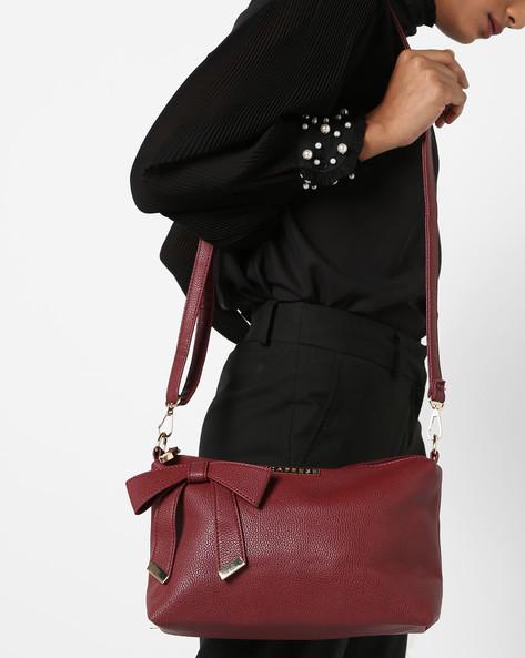Alexandria Handbag With Bow By CAPRESE ( Maroon )