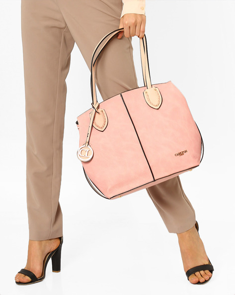 Shoulder Bag With Sling Strap By Carlton London ( Pink )