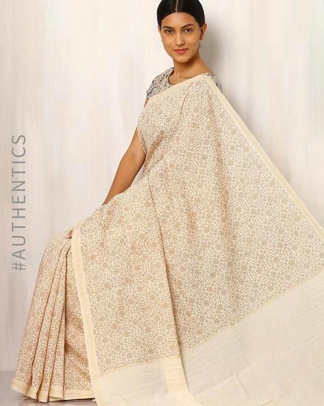 Printed Cotton Silk Saree With Ghicha Pallu By Rudrakaashe-MSU ( Multi ) - 460011246001