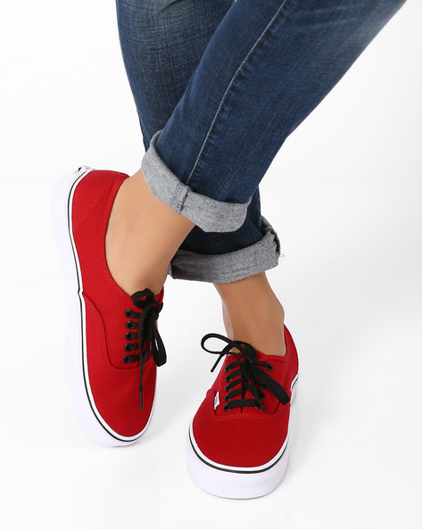 Authentic Lace-Up Casual Shoes By Vans ( Multi )