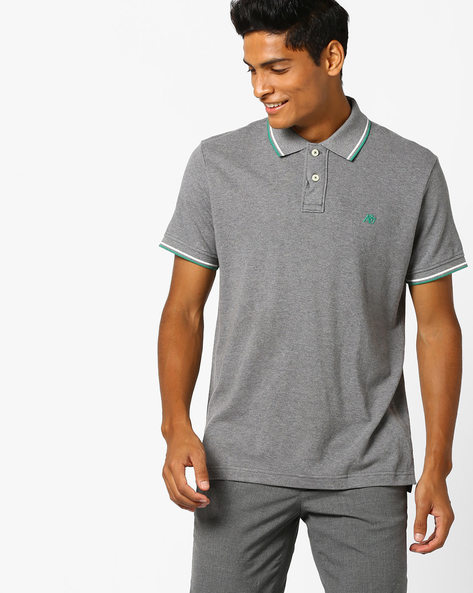 Polo T-shirt With Ribbed Hems By Aeropostale ( Grey )
