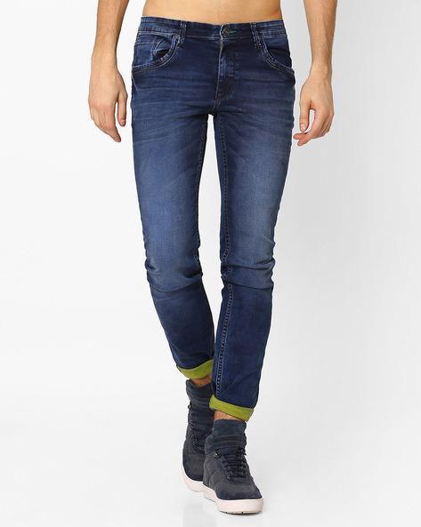 Lucifer Slim Fit Jeans By SIN ( Indigo ) - 460027255002
