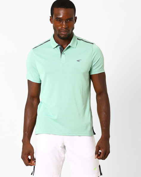 Quick Dry Polo T-Shirt By PERFORMAX ( Ltgreen )