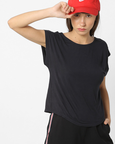 Boxy Top With Fringes By Pink Woman ( Grey )