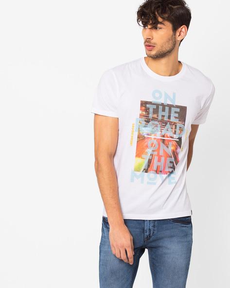 Graphic Print Slim T-shirt By Lee ( White )