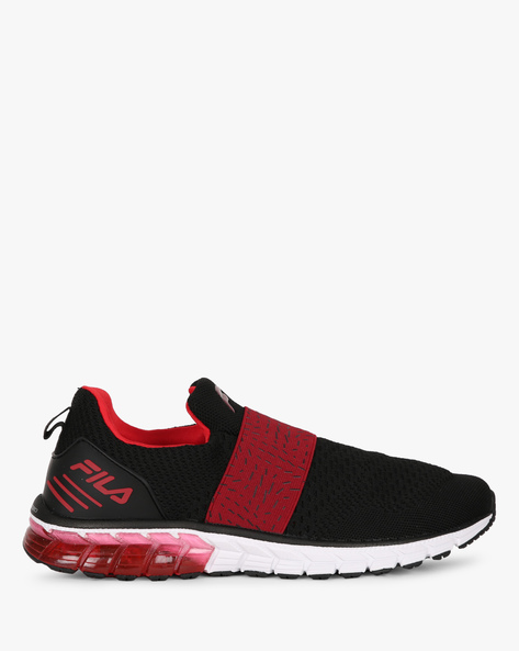 Slip-On Casual Shoes With Contrast Panel By FILA ( Black )
