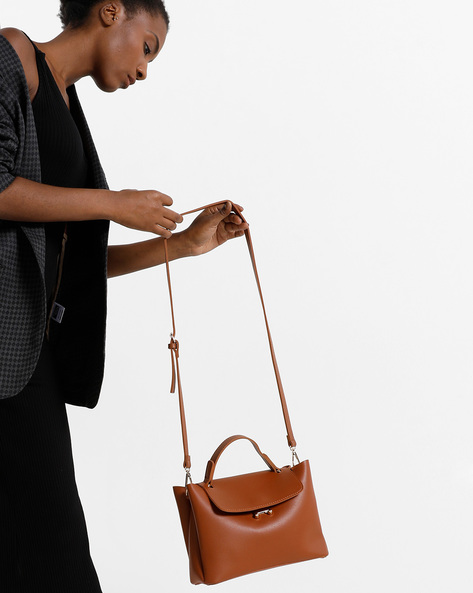 Sling Bag With Flap Closure By Project Eve ( Multi ) - 491364686