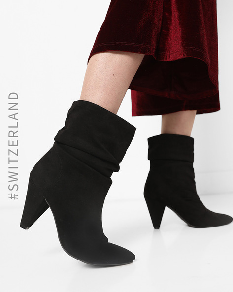 Ankle-Length Cone-Heeled Boots By TALLY WEiJL ( Black )
