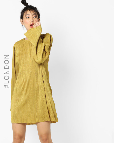 Shift Dress With Flared Sleeves By Glamorous ( Mustard )