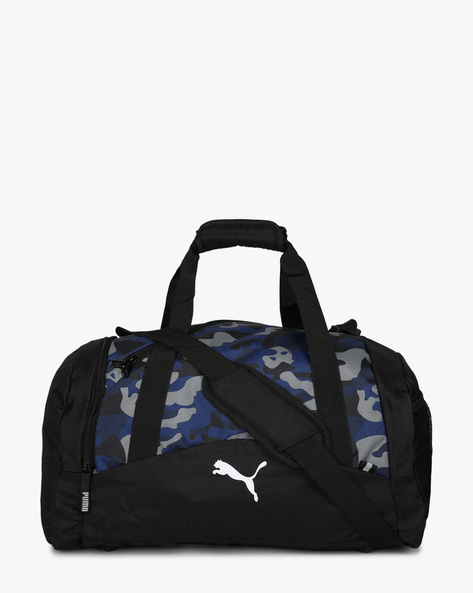 Camouflage Print Duffle Bag By Puma ( Blue )