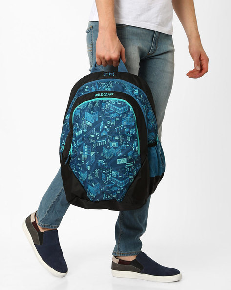 City Print Backpack By Wildcraft ( Blue )