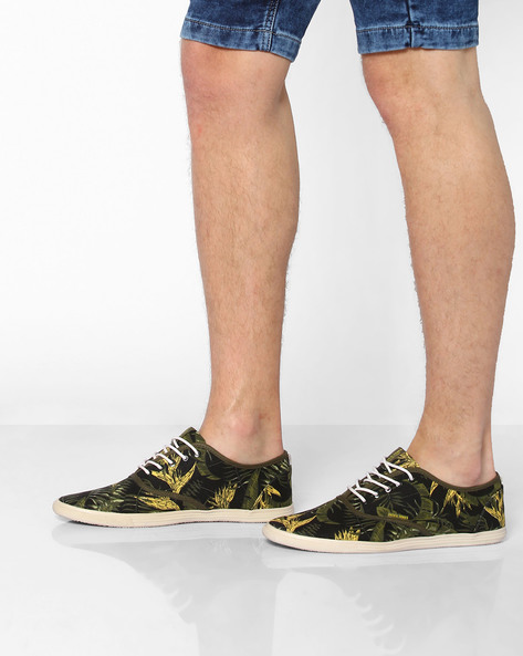 Printed Lace-Up Shoes By Jack & Jones ( Green )