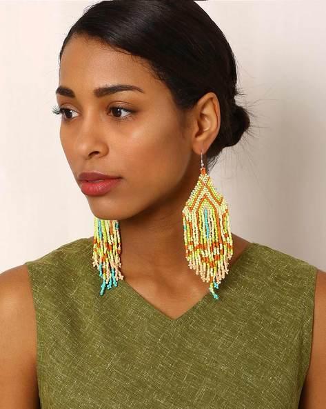 Beaded Drop-Earrings By Indie Picks ( Multi ) - 460042542001