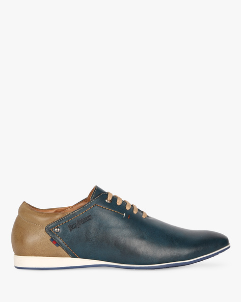 Casual Shoes With Lace-Ups By SAN FRISSCO ( Blue )