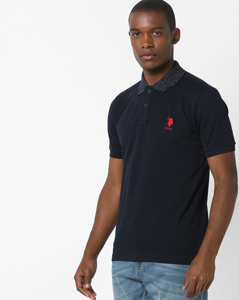 Polo T-shirt With Step Hem By US POLO ( Navy )