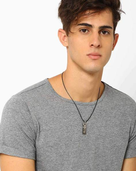 Necklace With Stainless Steel Pendant By ALPHA MAN ( Multicolor )
