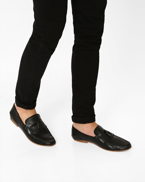 Patent Leather Moccasins With Tassels By Piaffe ( Black )