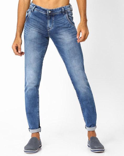 Lightly Washed Slim Fit Jeans By Killer ( Indigo ) - 460025971003