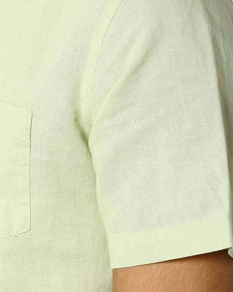 Classic Shirt With Short Sleeves By NETPLAY ( Ltgreen )