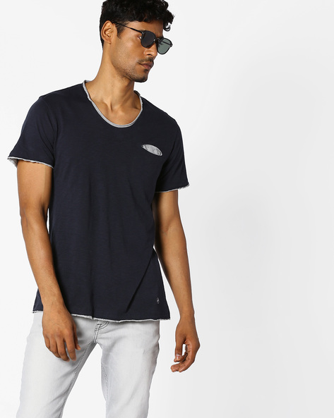 Slim Fit Crew-Neck T-shirt By GAS ( 0194 )