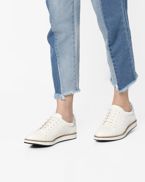 Casual Shoes With Lace-Ups By AJIO ( White )
