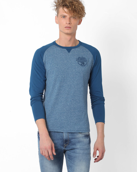 T-shirt With Raglan Sleeves By TEAM SPIRIT ( Blue )