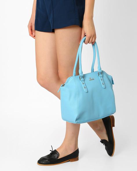 Textured Handbag With Short Handles By Lavie ( Blue )