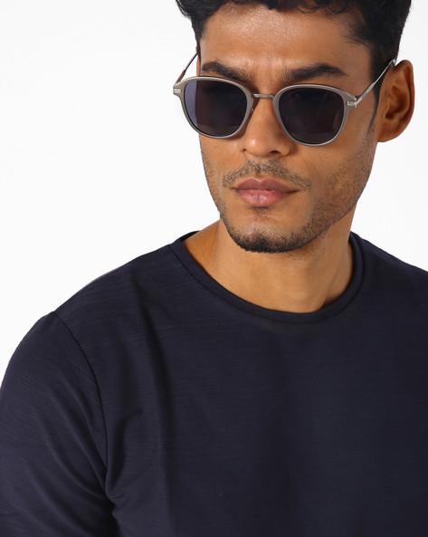 Metal Full-Rim Sunglasses By Farenheit ( Grey )
