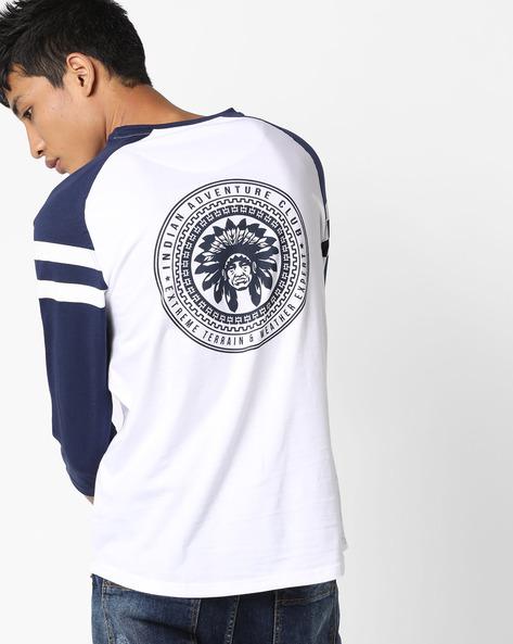 Crew-Neck T-shirt With Raglan Sleeves By AJIO ( White )