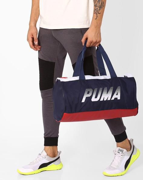 Colourblock Barrel Bag By Puma ( Cherry )
