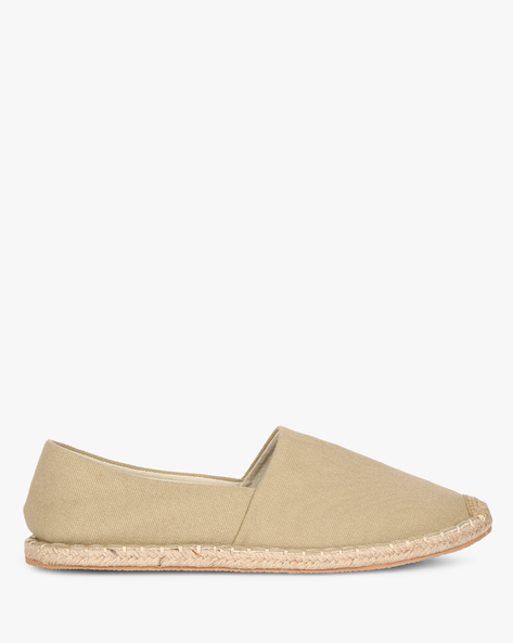 Textured Canvas Espadrilles By AJIO ( Khaki )