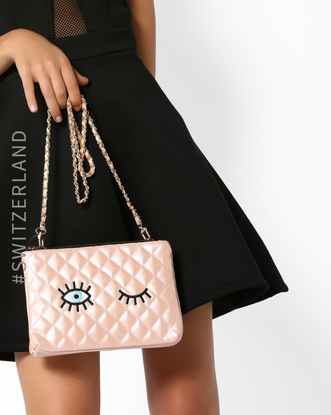 Quilted Slingbag With Applique By TALLY WEiJL ( Pink )