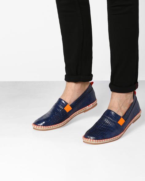 Textured Slip-On Espadrilles By AJIO ( Blue )