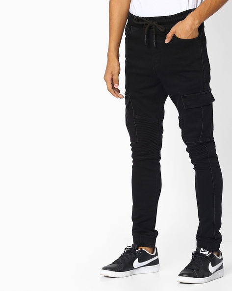 Slim Fit Cargo Trousers By Celio ( Black )
