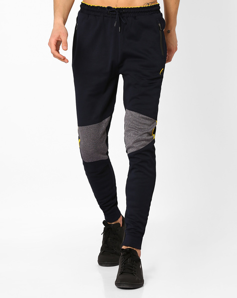 Slim Fit Mid-Rise Trackpants By PROLINE ( Navy )