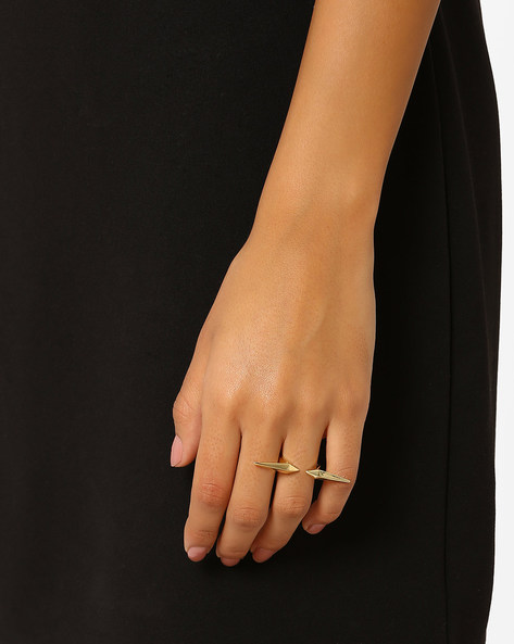 Spiked Open Band Ring By AJIO ( Gold )