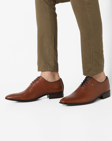 Genuine Leather Lace-Up Formal Shoes By ALBERTO TORRESI ( Drkbrntan )