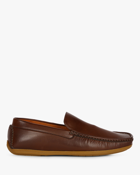 Dean Textured Moccasins By Spunk ( Brown )