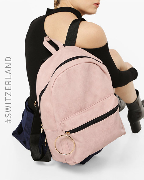 Everyday Backpack With Pouch Pocket By TALLY WEiJL ( Pink )