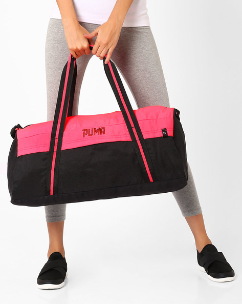 Gym Bag With Adjustable Strap By Puma ( Pink )